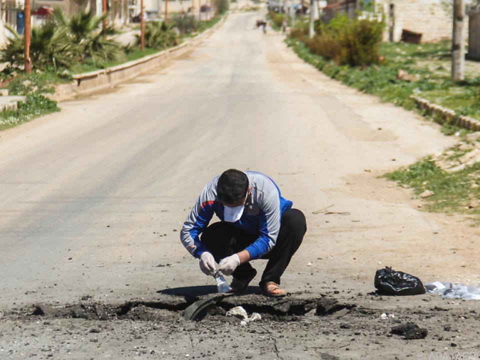 Bei dem Giftgasangriff mit Sarin kamen 80 Menschen ums Leben