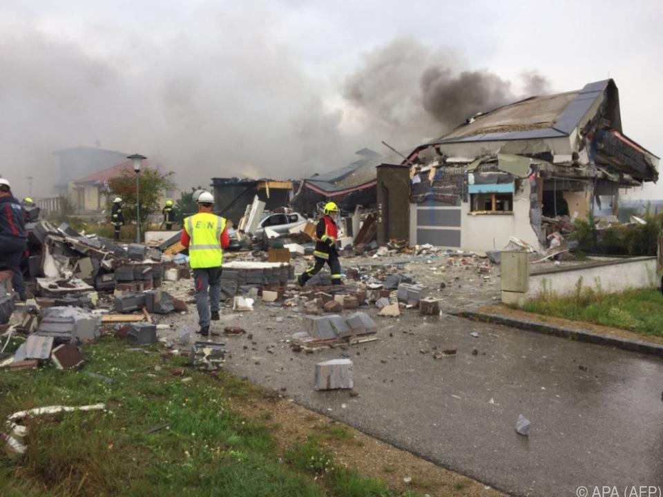 Bei der Explosion erlitt eine 37 Jahre alte Frau schwere Verbrennungen