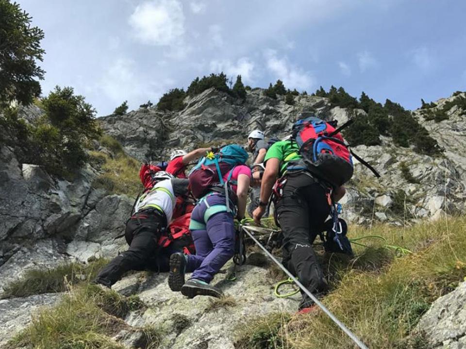 Klettersteig Vinschgau : Murmele klettersteig