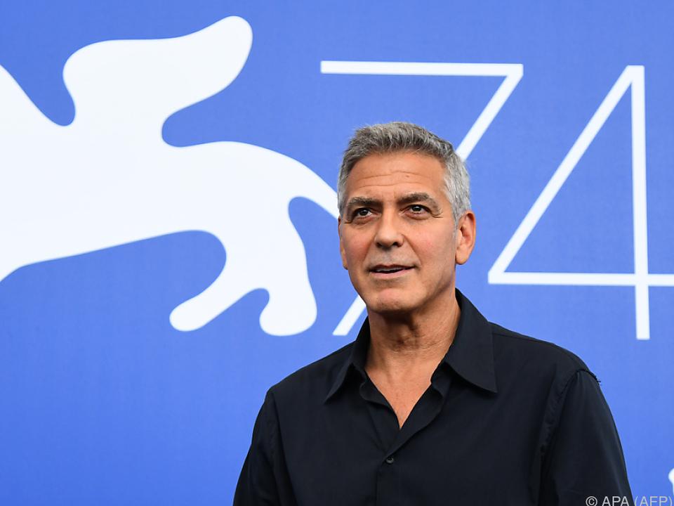 Clooney präsentiert seinen neuesten Film \