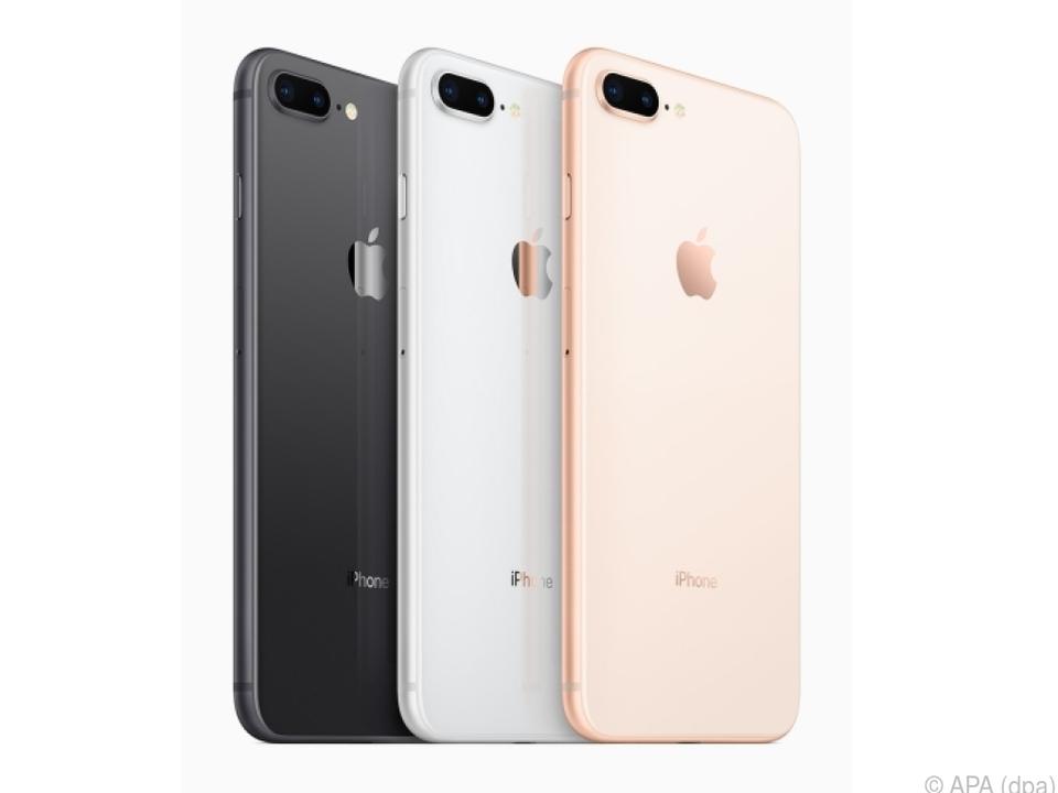 Das iPhone 8 und das iPhone 8 Plus sind in drei Farben erhältlich