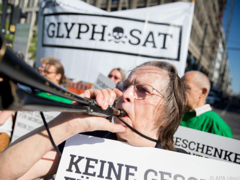 Demonstranten sind sich einig: Weg mit Glyphosat!
