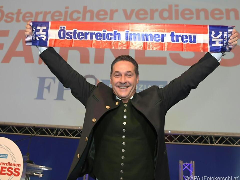 Der FPÖ-Chef scheint guter Dinge zu sein