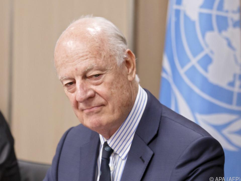 Der UNO-Sonderbeauftragte Staffan de Mistura kam nach Kasachstan