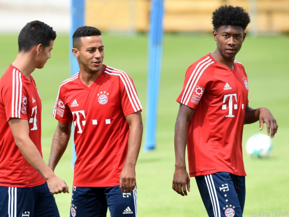 Die Bayern hoffen auf einen Einsatz von Alaba