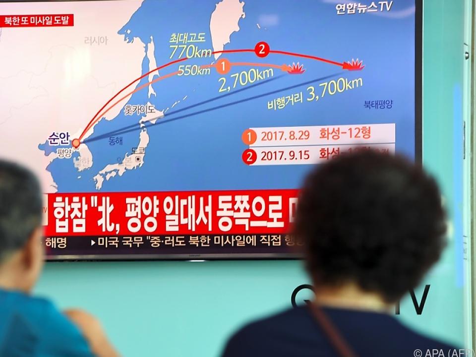 Die neue Rakete flog 3.700 Kilometer weit
