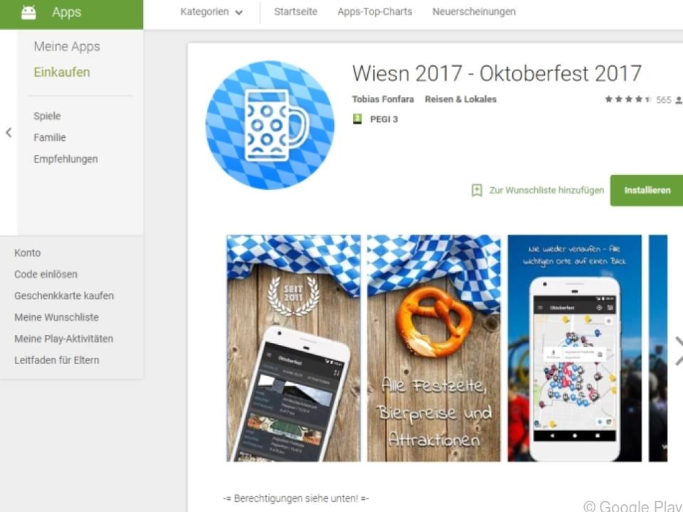 Die Oktoberfest-App gibt es kostenlos für Android und iOS