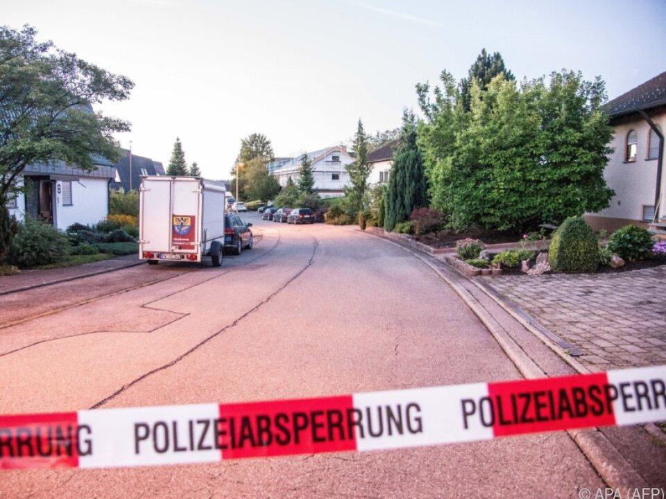 Die Polizei sperrte das Areal umgehend ab