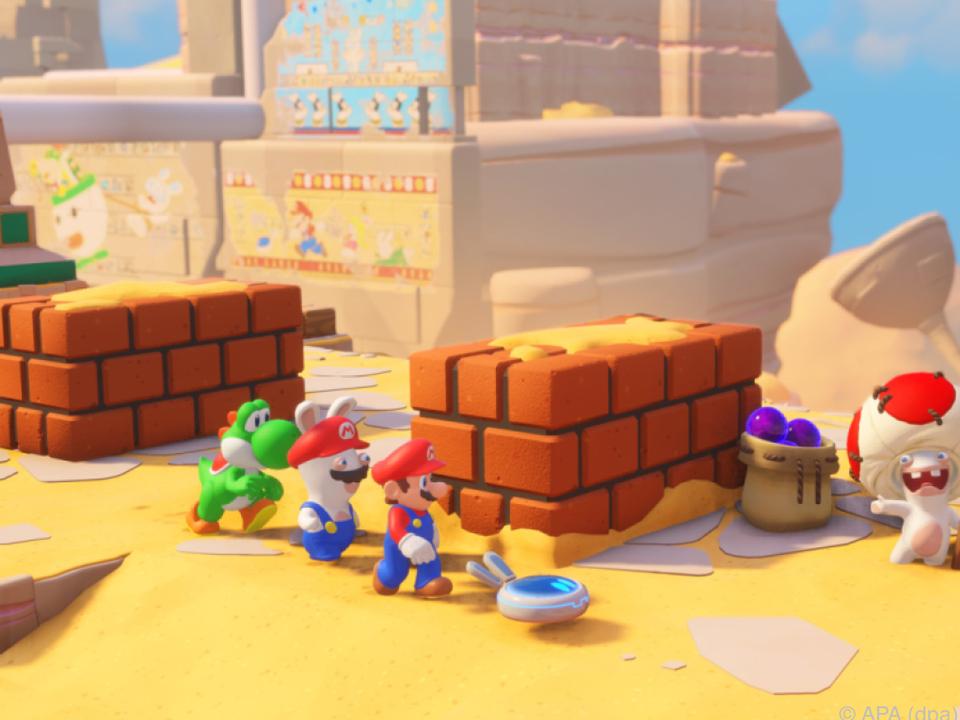 Die Rabbids verschmelzen mit den Figuren aus der Welt von Super Mario