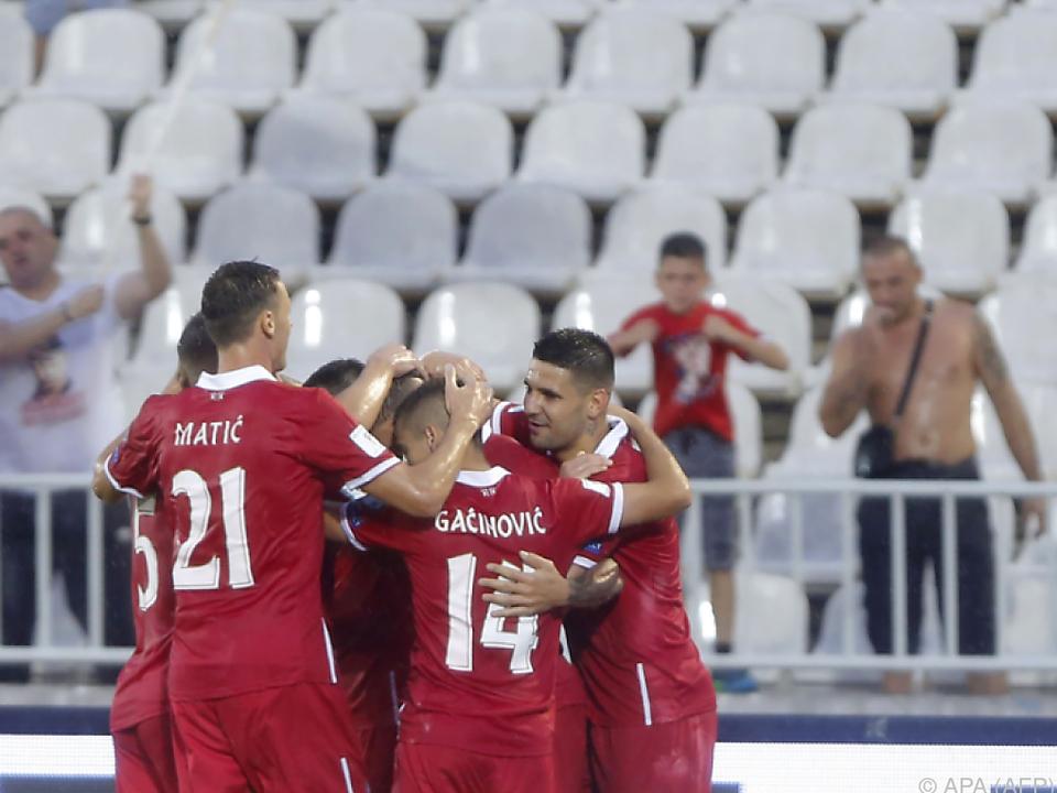 Die Serben sind guter Dinge, das WM-Ticket buchen zu können