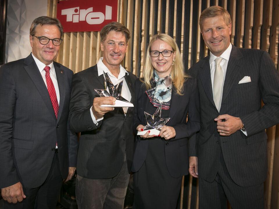 Tiroler des Jahres 2017 Margarete Schramböck und Tobias Moretti