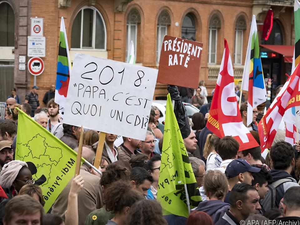 Frankreich: Proteste gegen Arbeitsmarktreform - Emmanuel Macron bleibt hart