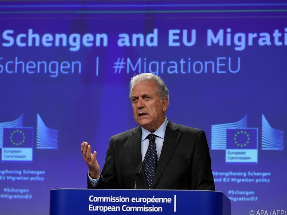 EU-Innenkommissar Avramopoulo äußerte nur eine Empfehlung