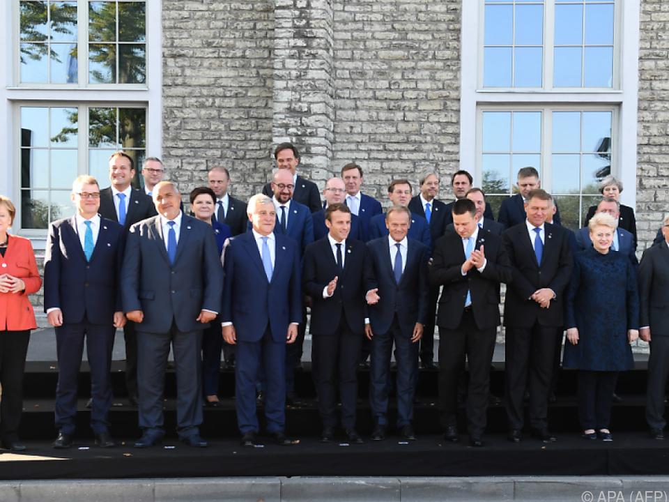 EU-Staats- und Regierungschefs trafen sich in Tallinn