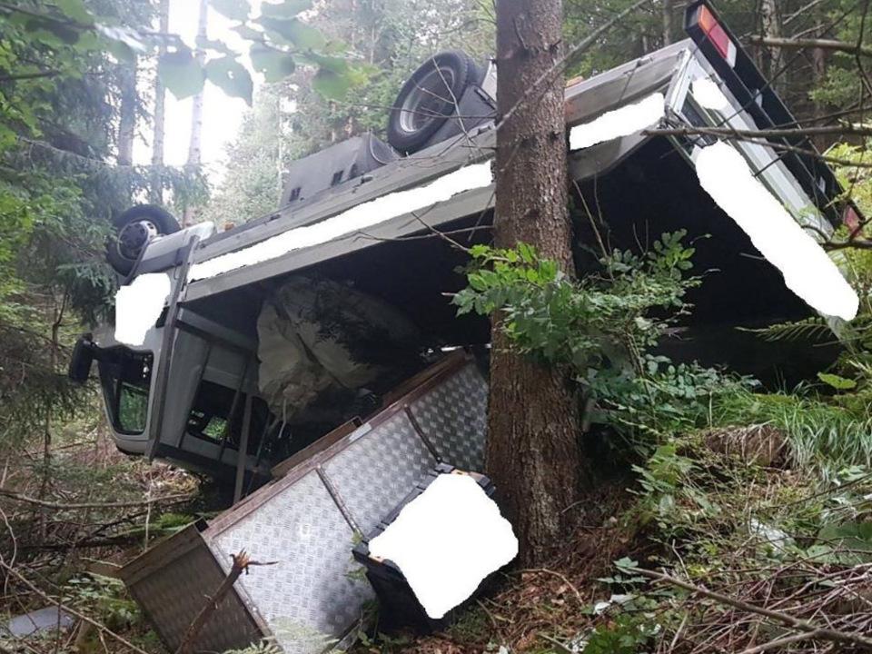 Unfall Lieferwagen