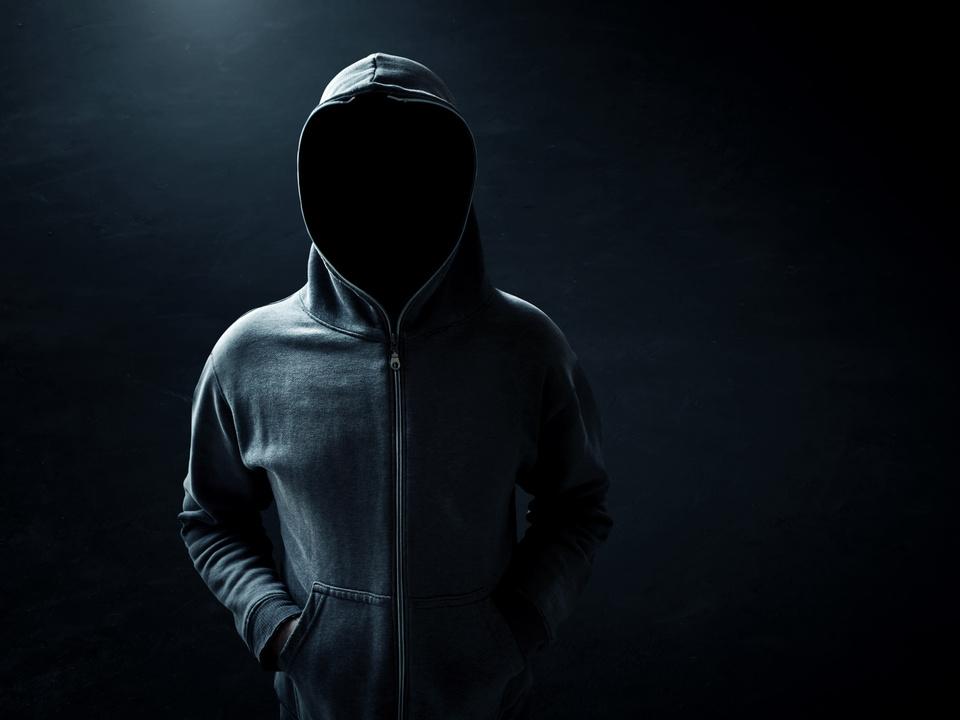 Kapuze Hacker Mann Unheimlich