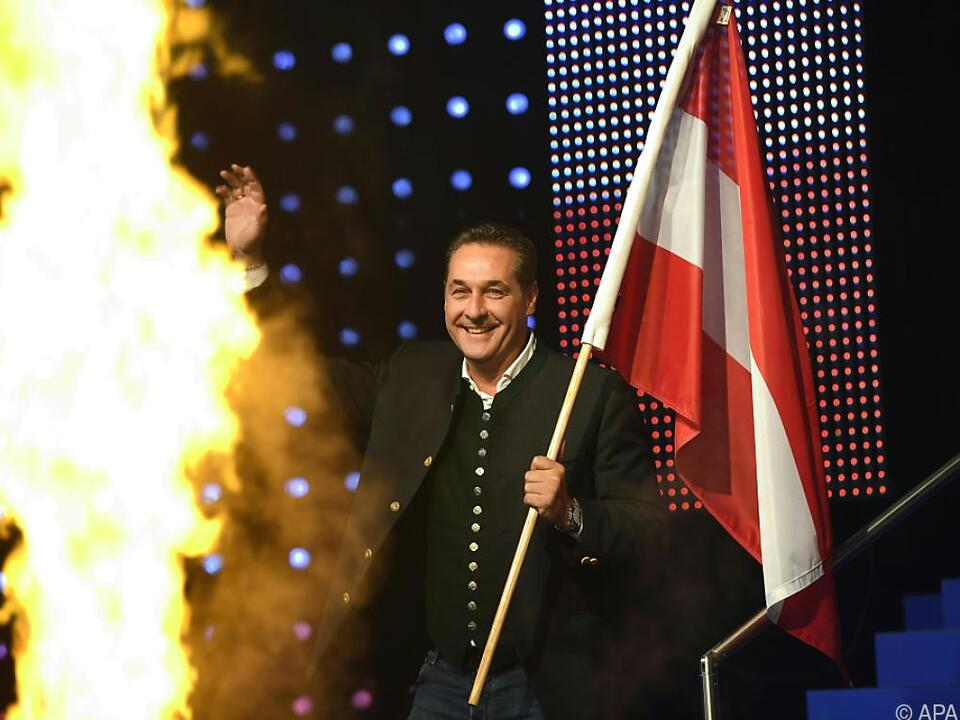 FPÖ-Chef Strache gab sich patriotisch