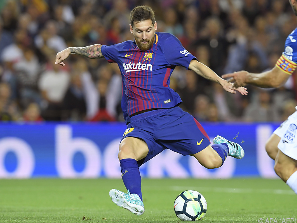 Fußballgott mit Torriecher: Lionel Messi traf drei Mal gegen Espanyol