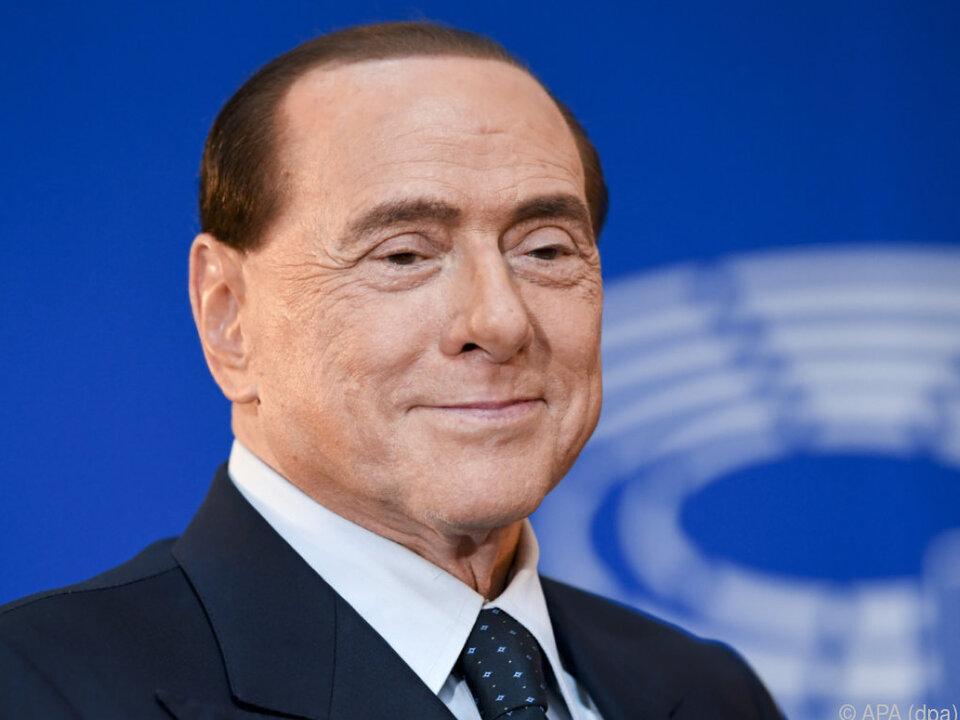 Hausherr Berlusconi ließ sich die Party freilich nicht entgehen
