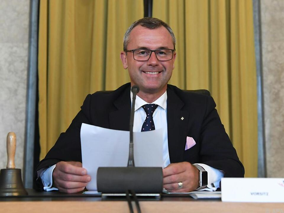 Hofer ist zuversichtlich, dass die FPÖ ein Rekordergebnis schafft