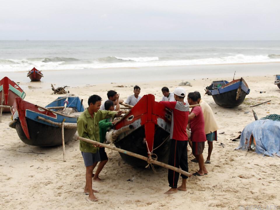 Im Vietnam bereitet man sich bereits auf den Wirbelsturm vor