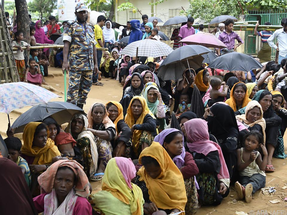 In Bangladesch halten sich derzeit tausende Rohingya-Flüchtlinge auf