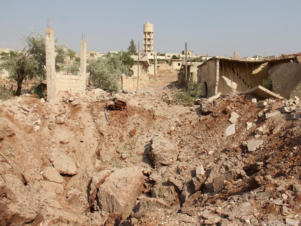 In der Provinz Idlib herrscht Zerstörung