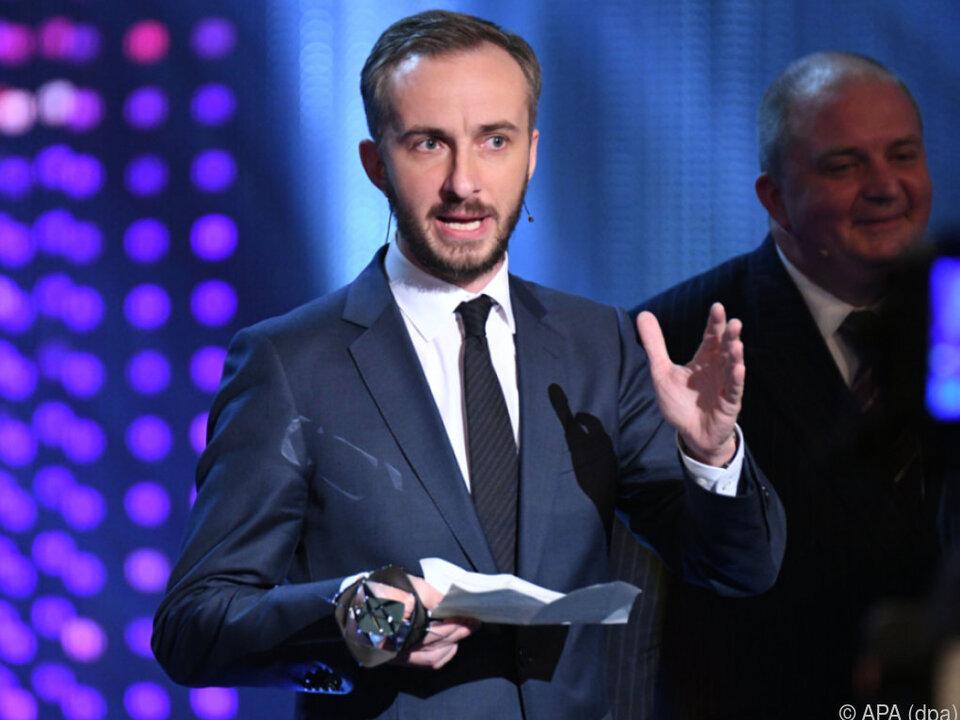 Jan Böhmermann erhielt Auszeichnung für \