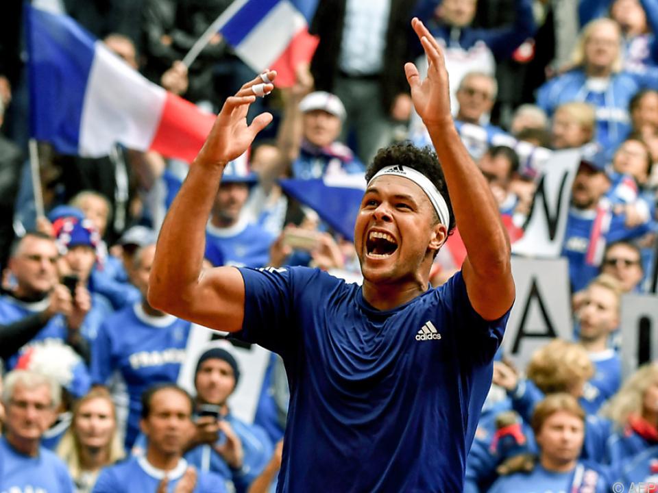 Jo-Wilfried Tsonga machte alles klar für Frankreich gegen Serbien
