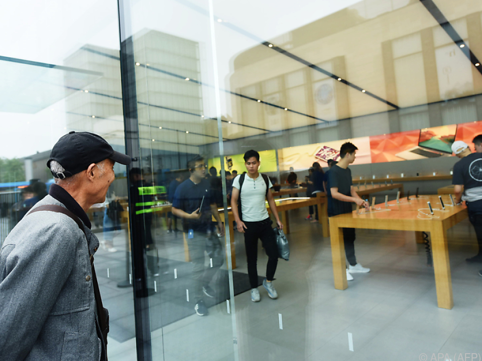 Leere Hallen: Apple-Store in Hangzhou in China
