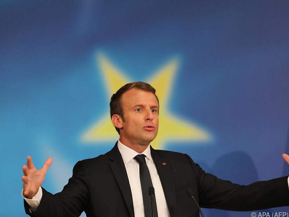 Macron will die EU neu aufstellen