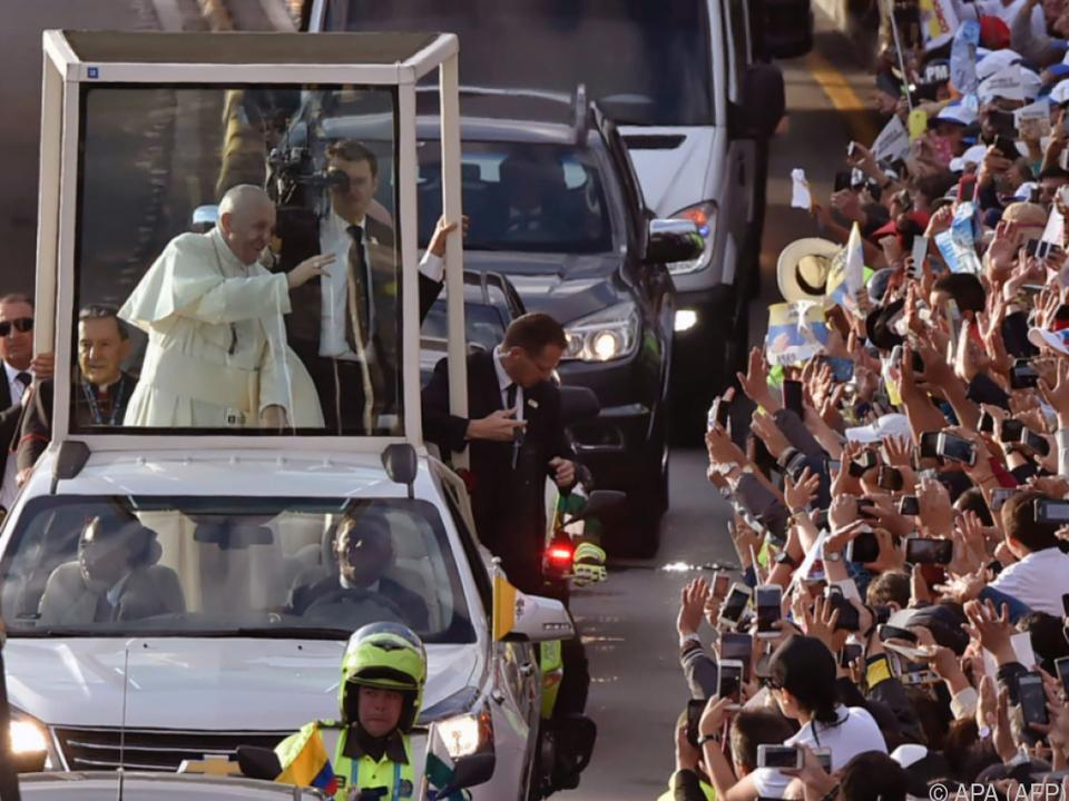 Mehr als eine halbe Million Menschen jubelten dem Papst zu