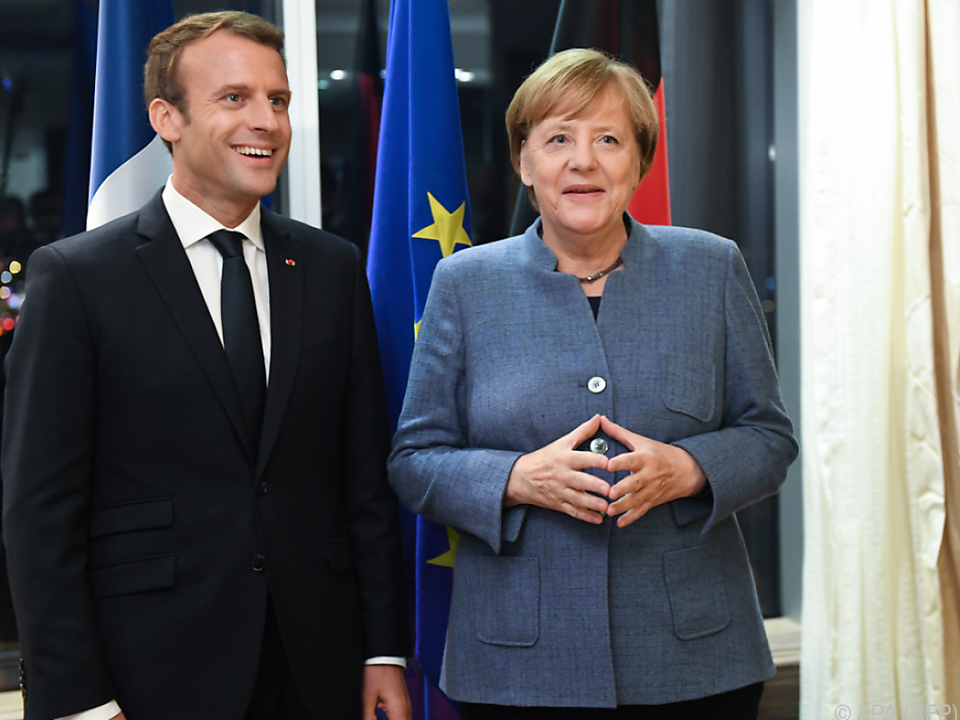 Merkel und Macron verstehen sich prächtig