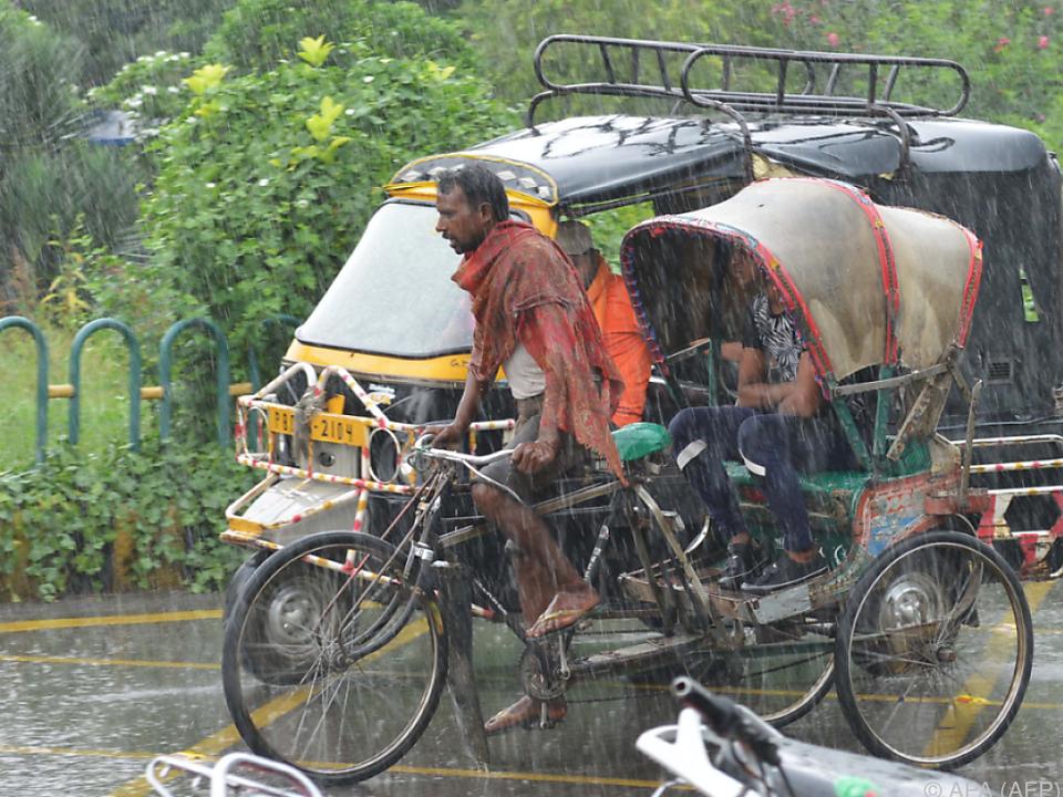 Monsunzeit dauert von Juni bis September