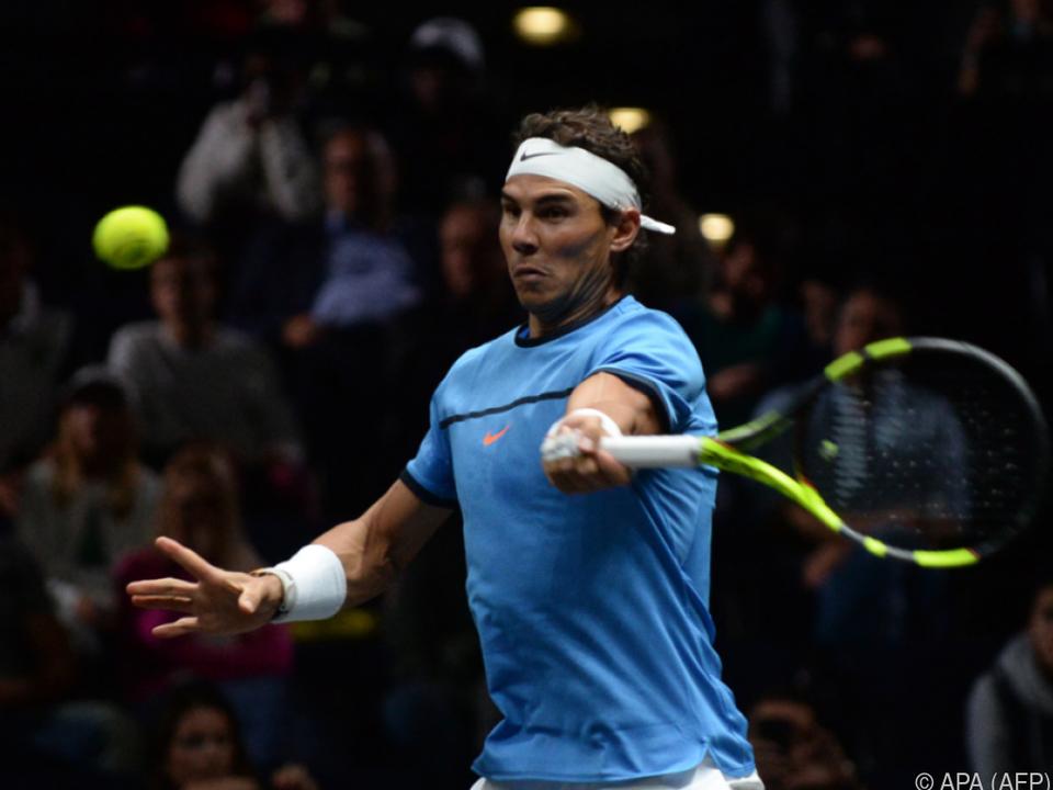 Nadal besiegte Jack Sock vor 17.000 Fans mit 6:3,3:6,11:9