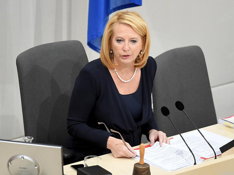 Nationalratspräsidentin Doris Bures eröffnete die Sitzung