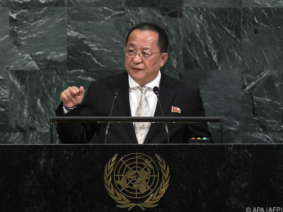 Nordkorea befinde sich auf dem Weg zu einer Nuklearmacht, sagte Ri