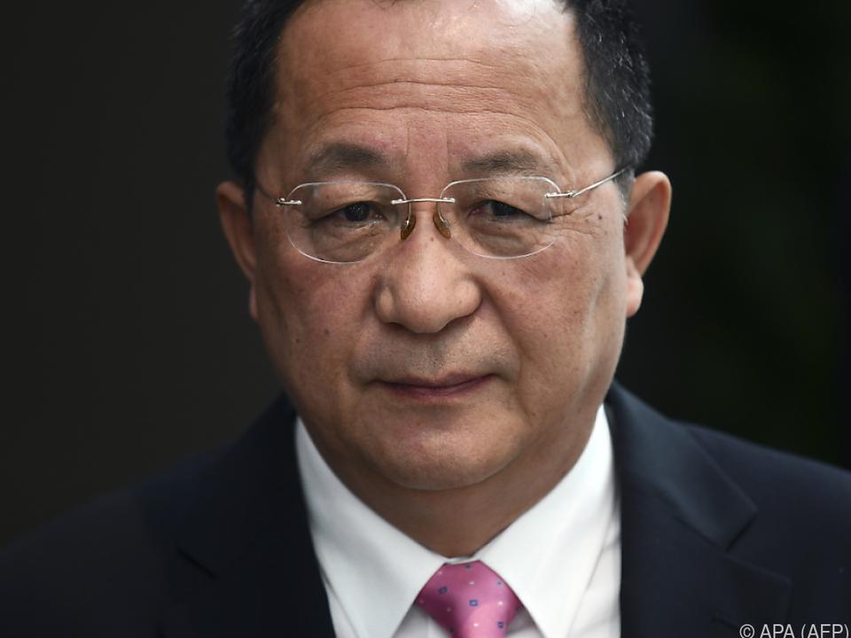 Nordkoreas Außenminister Ri Yong-ho