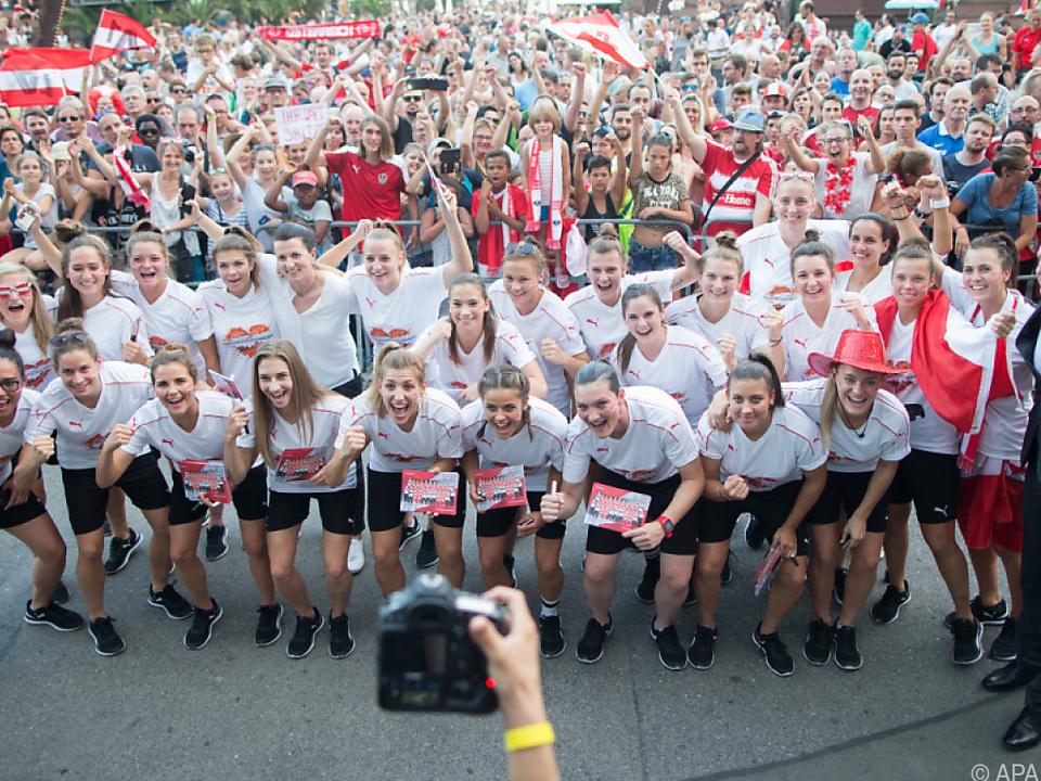 ÖFB-Team der Frauen sorgte wieder für Fußball-Euphorie