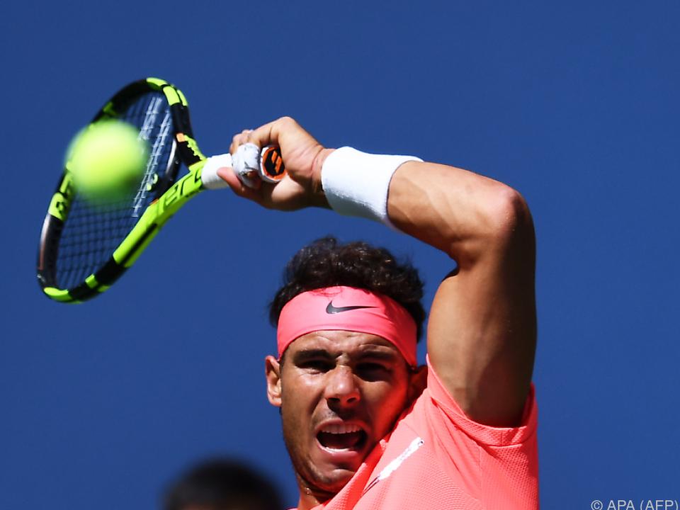 Rafael Nadal steht im Viertelfinale der US Open