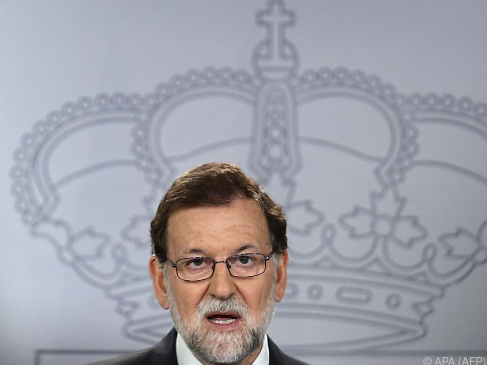 Rajoy ist strikt gegen eine Volksbefragung