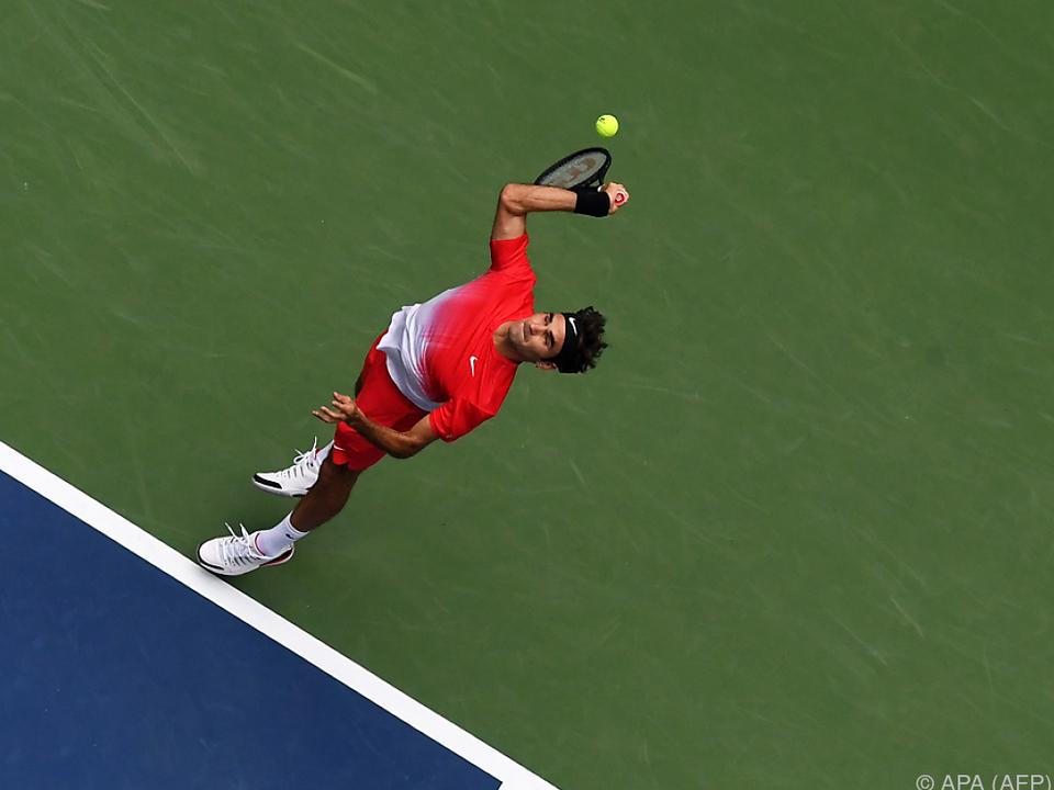 Roger Federer benötigte gegen Michail Juschni fünf Sätze