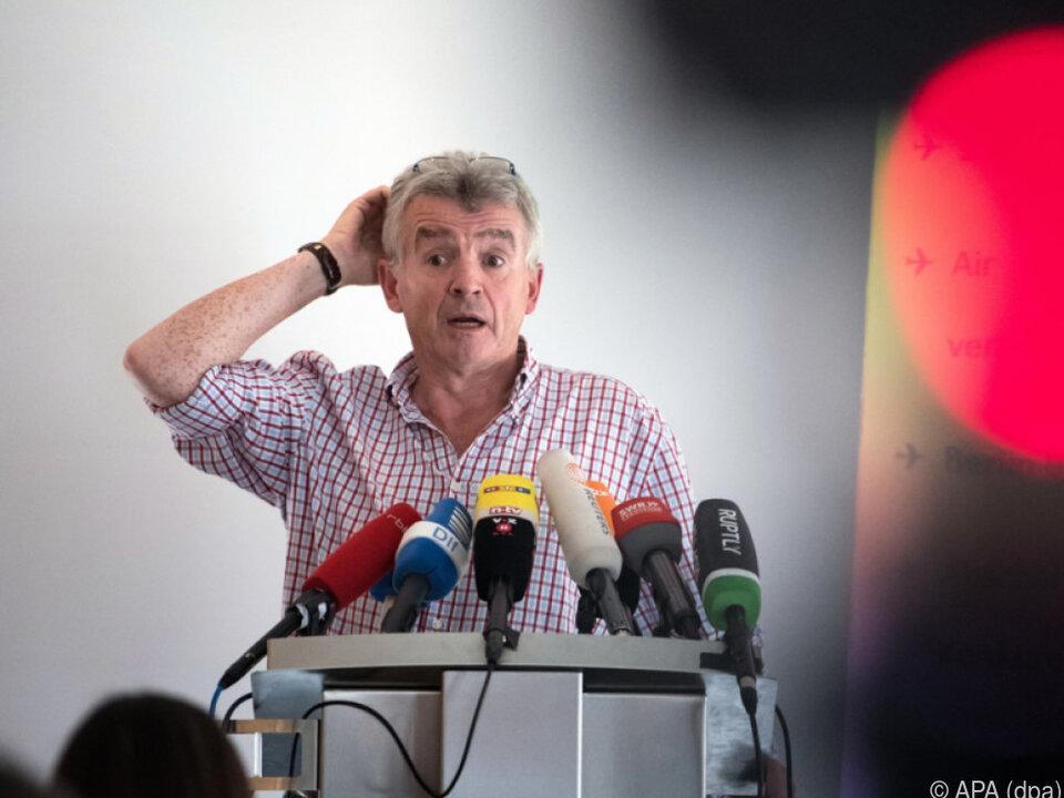 Ryanair-Chef Michael O\'Leary bat um Entschuldigung