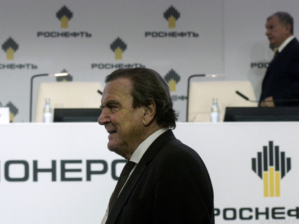Schröder mit Rosneft-Chef Igor Setschin