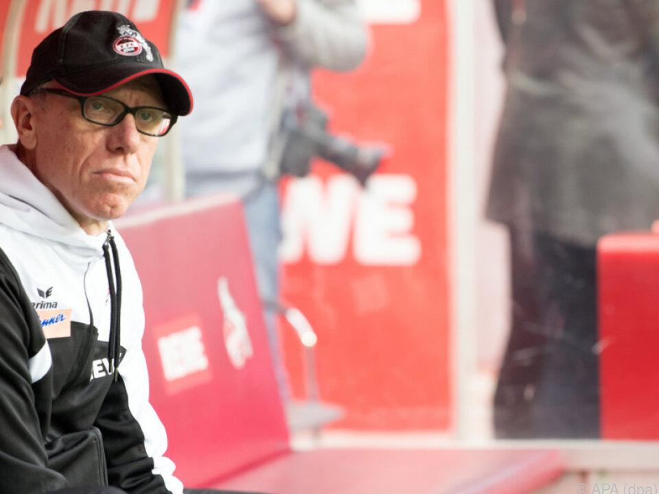 Schwere Zeiten für Peter Stöger in Köln