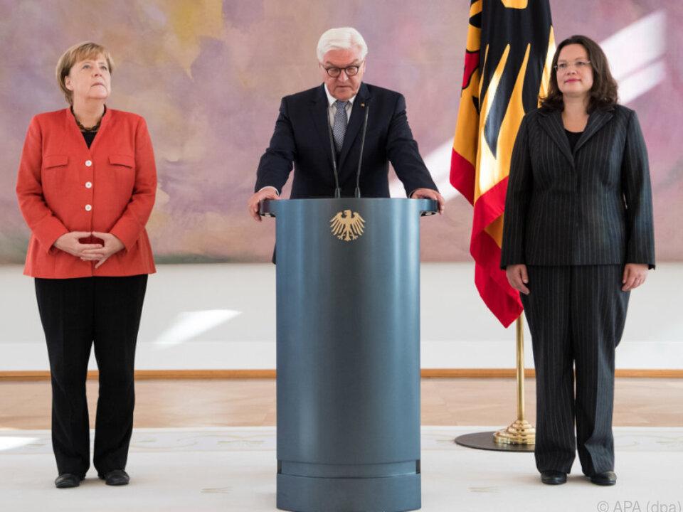 Steinmeier dankte der Ex-Ministerin