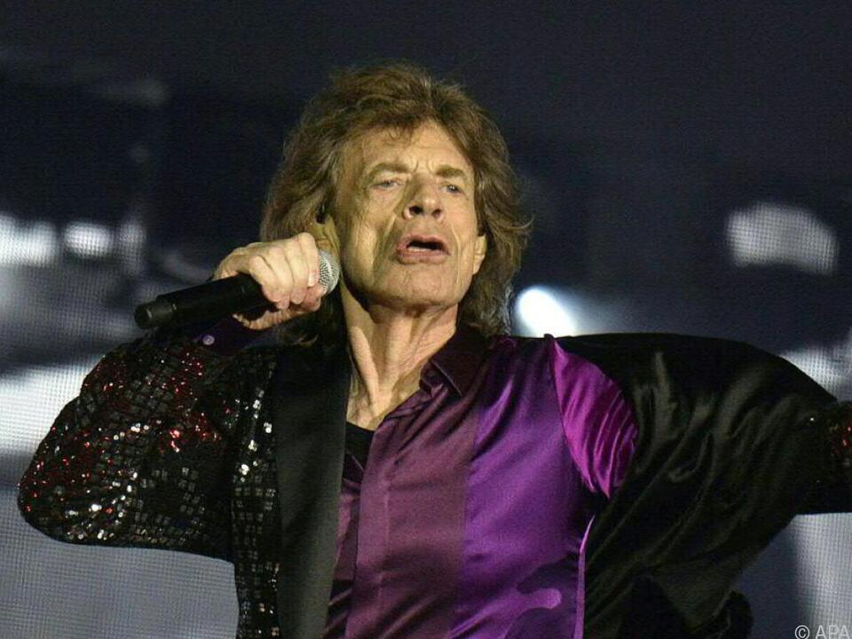 Stones-Frontmann Mick Jagger beim Konzert in Spielberg