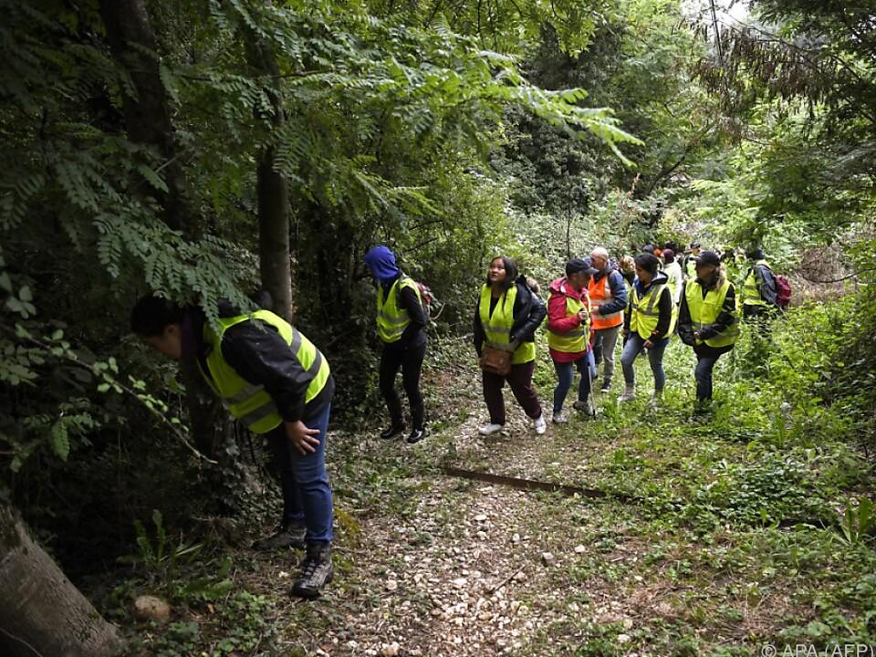 Suche nach der neunjährigen Maelys in Pont-de-Beauvoisin
