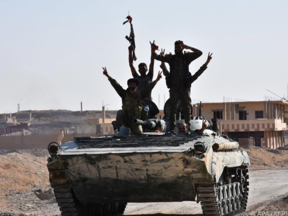 Syrische Truppen haben es fast geschafft