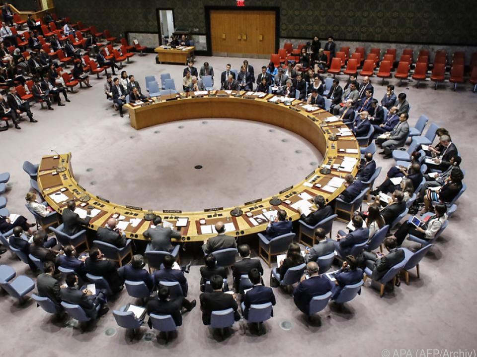 Tagung des UNO-Sicherheitsrats in New York